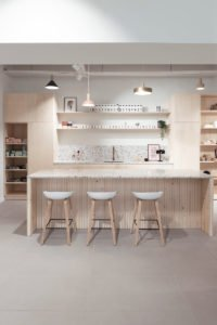 Keuken multiplex en terrazzo